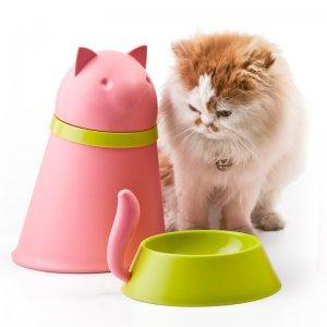 Контейнер+миска для кошки Kitt