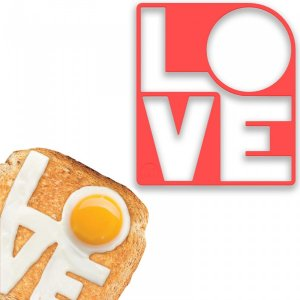 Форма для яичницы Fry love you