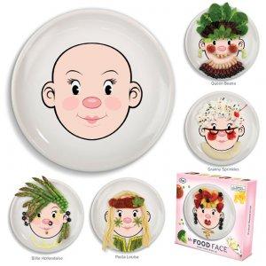 Тарелка с лицом Food Face, девочка