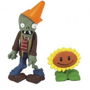 Фигурка Zombie with Sunflower Plants vs Zombies (8см)