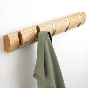 Вешалка настенная горизонтальная Flip 5 крючков