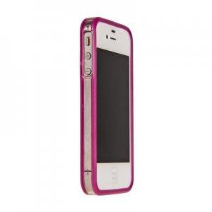Силиконовый бампер Griffin (фиолетовый) для iPhone 4/4s