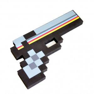 Пиксельный пистолет Minecraft