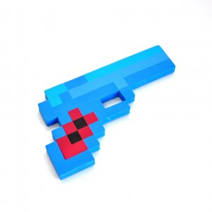 Пиксельный алмазный пистолет Minecraft