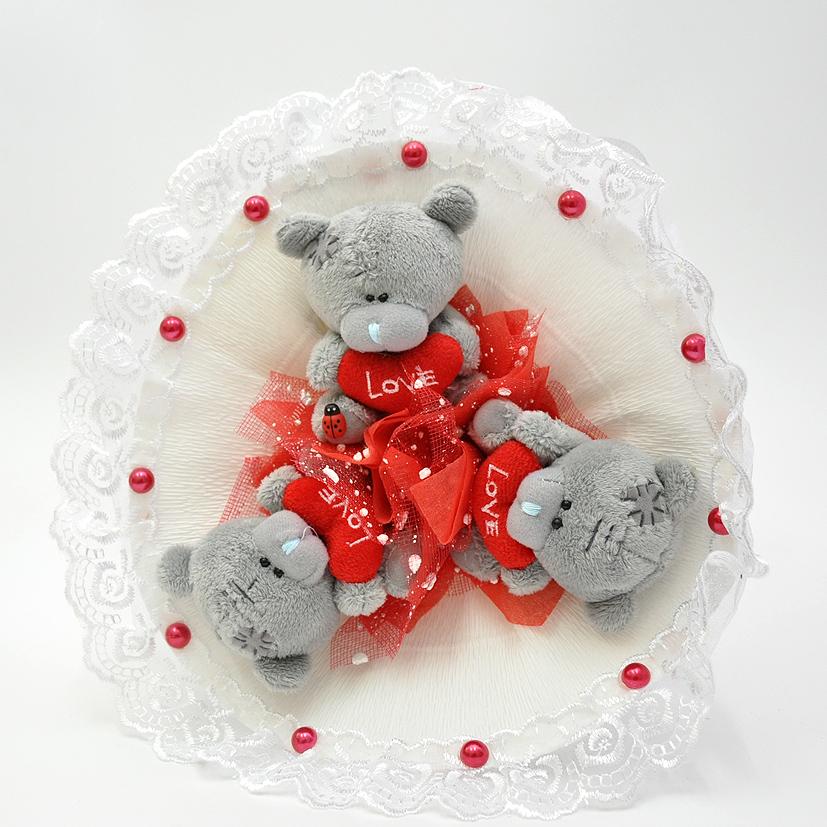 Букеты из медведей тедди, при