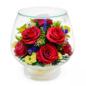 Композиция из роз и орхидей (LMM4)