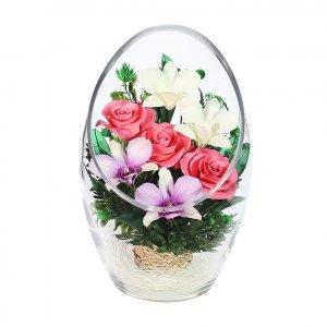 Композиция из натуральных роз и орхидей (ArMM2)