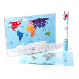 Скретч-карта мира Travel Map Silver