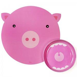 Коврик+миска Hungry pig