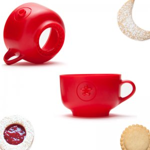 Форма для печенья Cookie cup красная
