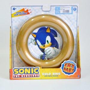 Кольцо со звуком Sonic Gold Ring