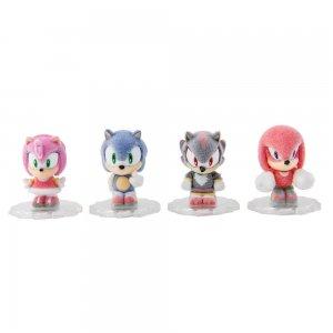 Фигурки Соник 4в1 Sonic Flocked Mini-Figures  (3 см)