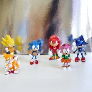 Фигурки Соник 6в1 Sonic Classic Pack (6см)