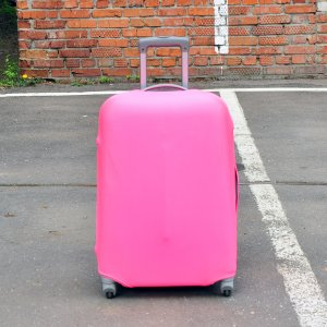 Чехол для чемодана Rainbow розовый