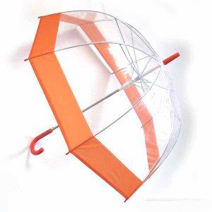 Зонт с прозрачным куполом (оранжевый)