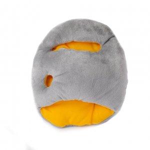 Подушка Страус mini желтая