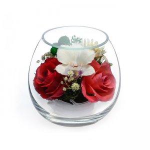 Композиция из роз и орхидей (BmiM-08)