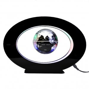 Левитирующий глобус в овале черный