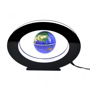 Левитирующий глобус в овале синий