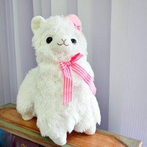 Альпака с розовой шляпкой 30 см