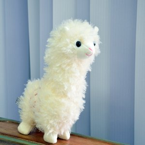 Плюшевый Альпака белый