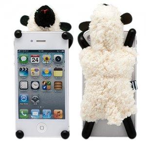 "Чехол для iPhone 4/4S  ""Soft Sheep "" (бежевая) - Kawaii Factory."