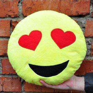 Подушка Emoji Heart Eyes Emoji 27 см