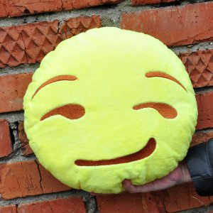 "Подушка Emoji ""Smirking Face"" 27 см"