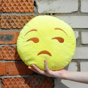 """Подушка Emoji """"Unimpressed Emoji"""" 27 см"""