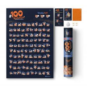 Скретч-плакат 100 Дел Kamasutra Edition
