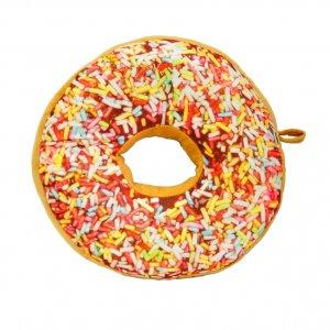 Подушка-пончик с разноцветной крошкой 35 см