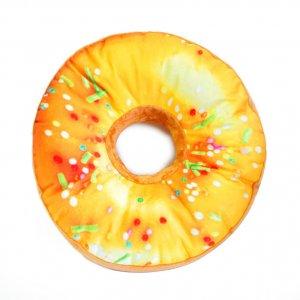 Подушка-пончик с желтой глазурью 35 см