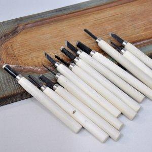 Набор для резьбы по дереву, мини (12 резцов)