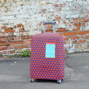 "Чехол для чемодана ""Orange-Blue Dots"""