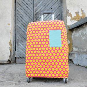 "Чехол для чемодана ""Pink-Yellow Dots"""