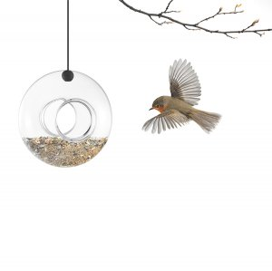 Кормушка для птиц подвесная стеклянная