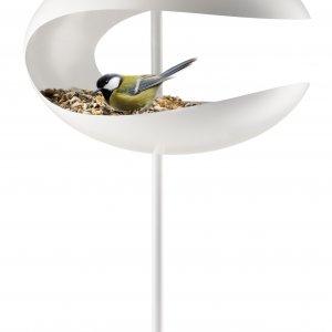 Кормушка-стол для птиц белая