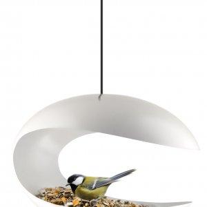 Кормушка-стол для птиц подвесная белая