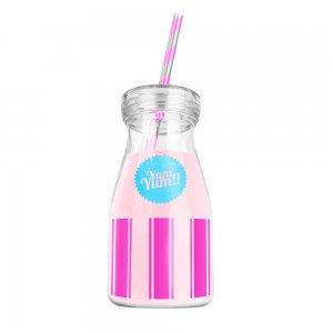 Бутылка с трубочкой Yum Yum  розовая