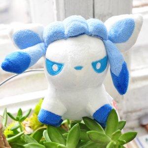 Мягкая игрушка Покемон Гласеон/Pokemon Glaceon 13 см