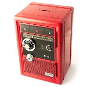 Копилка сейф с ключом Радио-ретро