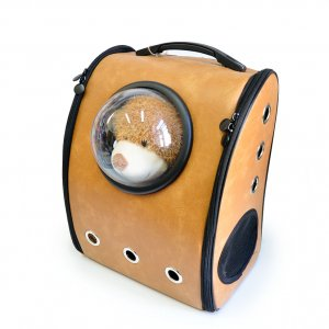 Рюкзак с иллюминатором, коричневый