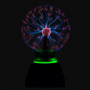 Электрический магический шар с зеленой подсветкой 15 см