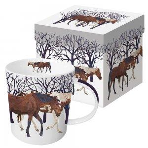 Кружка в подарочной коробке Winter Horses