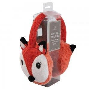 Наушники согревающие Fox вязаные красные