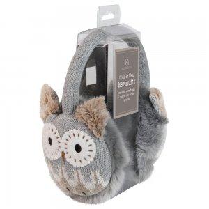 Наушники согревающие Owl вязаные коричневые