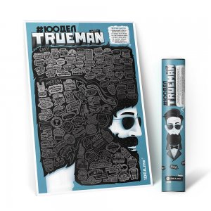 Скретч-плакат 100 Дел Trueman Edition