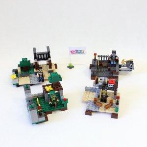 Набор 4 конструктора Майнкрафт (9)