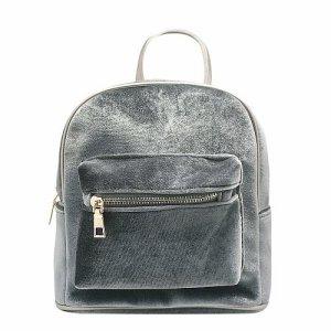 Рюкзак бархатный (серебро)