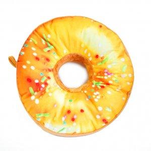 Подушка-пончик в желтой глазури 35 см